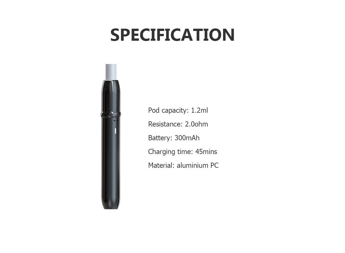 Specification of SKE Vape Pen 1898 Aurora