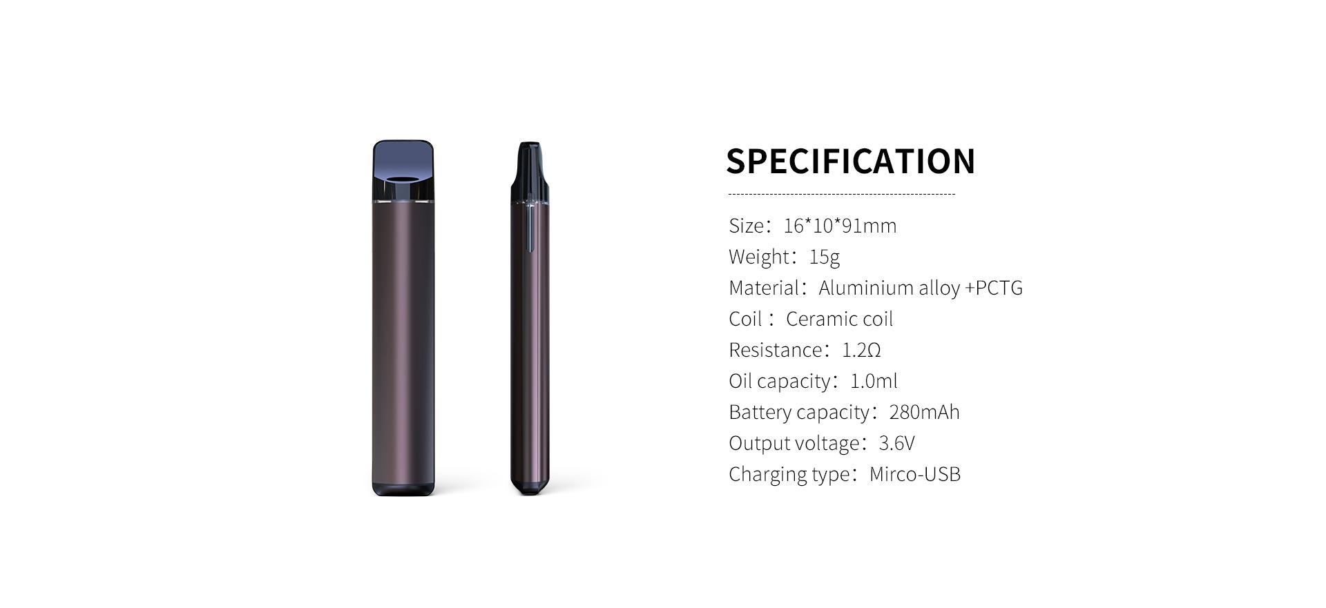 cbd vaporizer 8122 specification